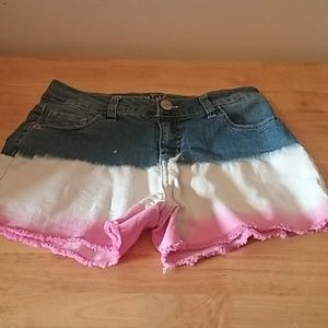 Justice girls patriotic shorts size 16